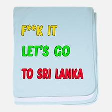 Let's go to Sri Lanka baby blanket