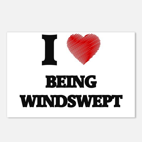 being windswept Postcards (Package of 8)