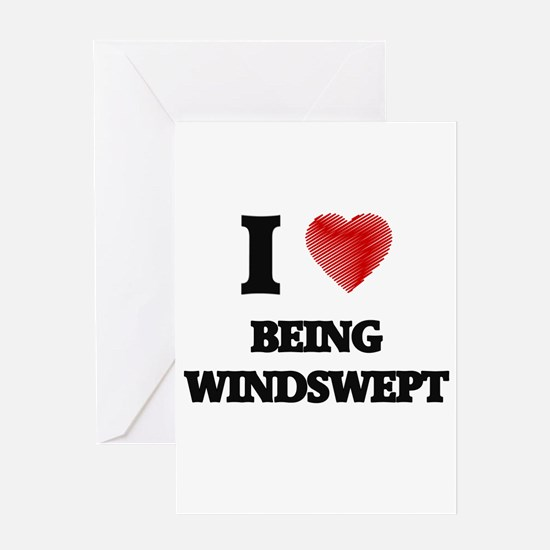 being windswept Greeting Cards