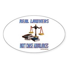 Real Lawyer Gifts Oval Decal