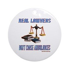 Real Lawyer Gifts Ornament (Round)