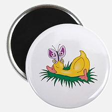 Cute Sleeping Duck Magnet