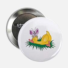 Cute Sleeping Duck Button
