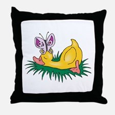 Cute Sleeping Duck Throw Pillow