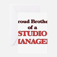 Proud Brother of a Studio Manager Greeting Cards