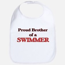 Proud Brother of a Swimmer Bib