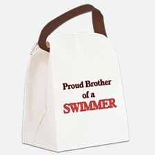 Proud Brother of a Swimmer Canvas Lunch Bag