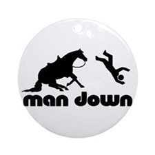 man down reiner Ornament (Round)