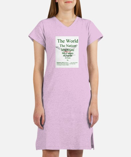 Colossians 3:2 Women's Nightshirt