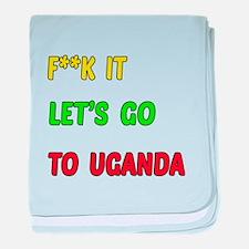 Let's go to Uganda baby blanket
