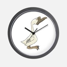 Silly White Goose Wall Clock