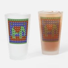 Colorful Elephant Drinking Glass