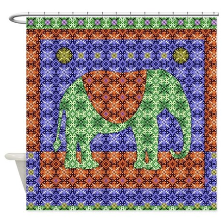 Colorful Elephant Shower Curtain By Admin CP115274454