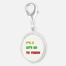 Let's go to Yemen Silver Oval Charm