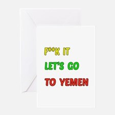 Let's go to Yemen Greeting Card