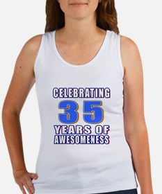 35 Years Of Awesomeness Women's Tank Top