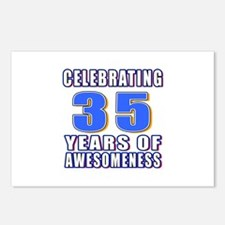 35 Years Of Awesomeness Postcards (Package of 8)