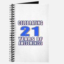 21 Years Of Awesomeness Journal