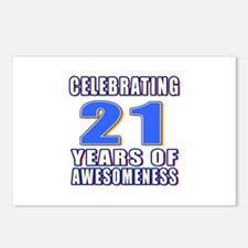 21 Years Of Awesomeness Postcards (Package of 8)