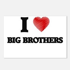 I Love BIG BROTHERS Postcards (Package of 8)