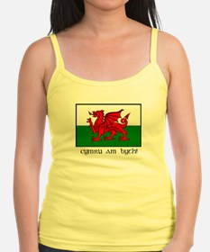 Jr. Spaghetti With Welsh Flag Tank Top