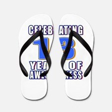 13 Years Of Awesomeness Flip Flops