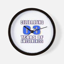 03 Years Of Awesomeness Wall Clock