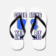 04 Years Of Awesomeness Flip Flops