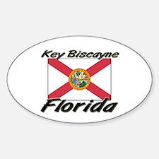 Key Biscayne Florida Oval Decal
