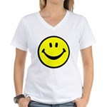 Happy Face Women's V-Neck T-Shirt