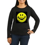 Happy Face Women's Long Sleeve Dark T-Shirt