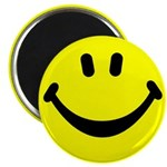 "Happy Face 2.25"" Magnet (100 pack)"