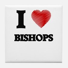 I Love BISHOPS Tile Coaster