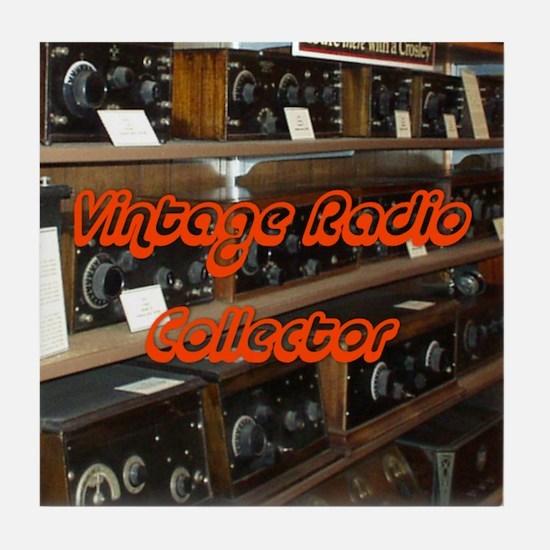 Vintage Radio Collector Tile Coaster