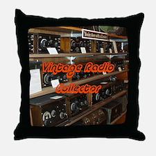 Vintage Radio Collector Throw Pillow