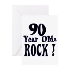 90 Year Olds Rock ! Greeting Card
