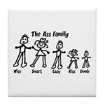 Ass Family Tile Coaster