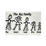 Ass Family Rectangle Magnet (100 pack)