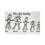 Ass Family Rectangle Magnet