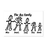 Ass Family Mini Poster Print