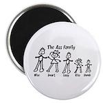 "Ass Family 2.25"" Magnet (10 pack)"