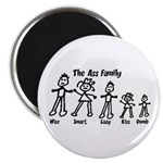 "Ass Family 2.25"" Magnet (100 pack)"