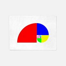 Fibonacci! Golden Ratio 5'x7'Area Rug