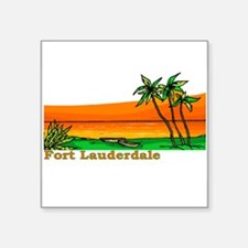 "Funny Jupiter florida Square Sticker 3"" x 3"""