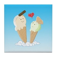 Ice Creams In Love Tile Coaster