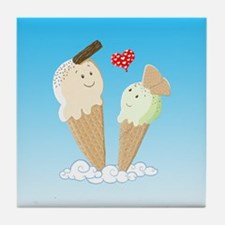 Ice Creams In Love Tile Coaster