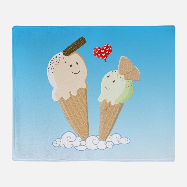 Ice Creams In Love Throw Blanket
