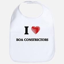 I Love BOA CONSTRICTORS Bib