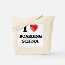 I Love BOARDING SCHOOL Tote Bag