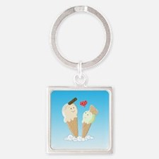 Ice Creams In Love Keychains